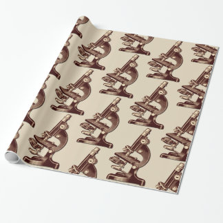 Vintage Microscope Wrapping Paper