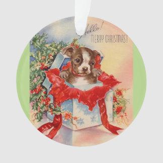 Vintage Mid Century Beautiful Baby Boston Terrier Ornament