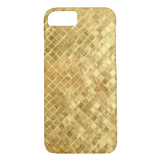 Vintage Mid Fifties gold texture iPhone 7 Case