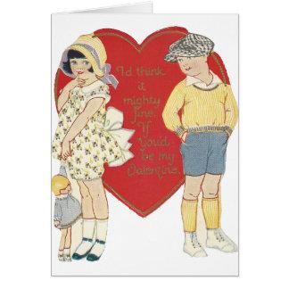 """Vintage """"Mighty Fine"""" Valentine Card"""