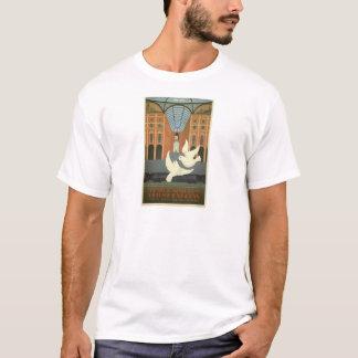 Vintage Milano Italy White Doves Orient Express T-Shirt