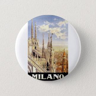 Vintage Milano Travel 2 Inch Round Button