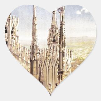 Vintage Milano Travel Heart Sticker
