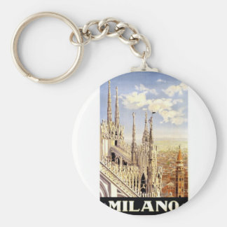 Vintage Milano Travel Keychain