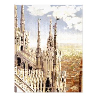 Vintage Milano Travel Letterhead