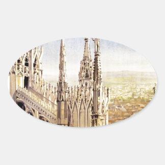 Vintage Milano Travel Oval Sticker