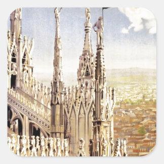 Vintage Milano Travel Square Sticker