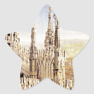 Vintage Milano Travel Star Sticker