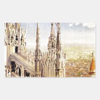 Vintage Milano Travel Sticker