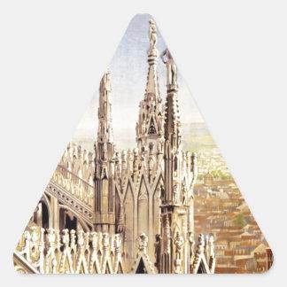 Vintage Milano Travel Triangle Sticker