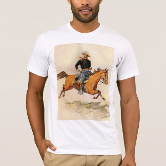 Vintage Military, A Cavalry Officer by Remington T-Shirt