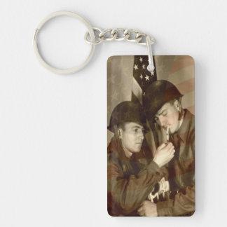 Vintage Military Acrylic Keychain