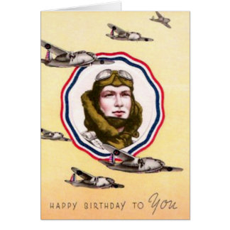 Vintage Military Air Force Birthday Card