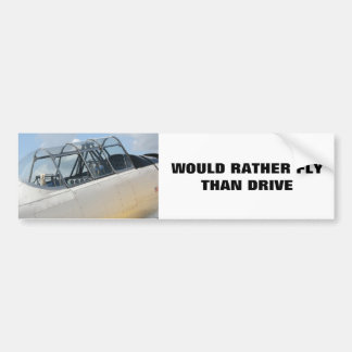 Vintage Military Aircraft Cockpit Bumper Sticker