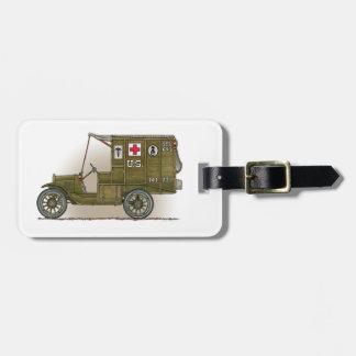 Vintage Military Ambulance luggage tag