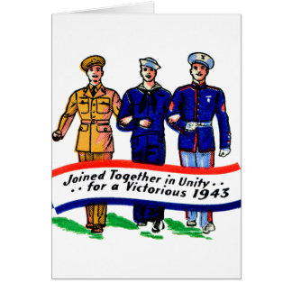 Vintage Military Army Navy Marines WW2 Matchbook Greeting Card