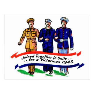 Vintage Military Army Navy Marines WW2 Matchbook Postcard