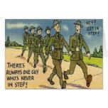 Vintage Military Basic Training Card
