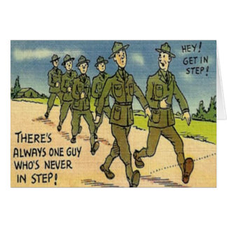 Vintage Military Basic Training Card