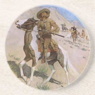Vintage Military Cowboys, The Scout by Remington Coaster