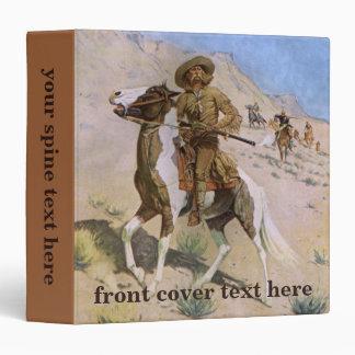 Vintage Military Cowboys, The Scout by Remington Vinyl Binder