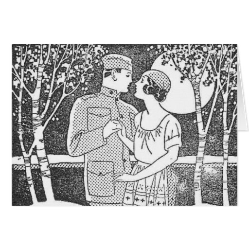 Vintage Military Love Card