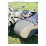 Vintage Military Motorcycle Combination Greeting Cards