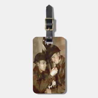 Vintage Military Patriotic Photo - Luggage Tag