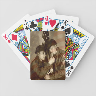 Vintage Military Photo - Bicycle Poker Deck