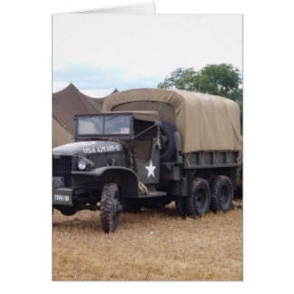 Vintage Military Truck Greeting Card