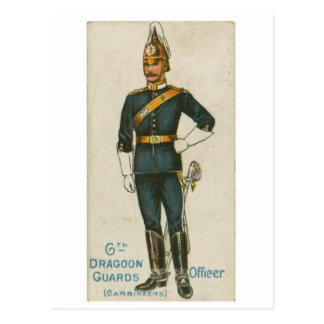 Vintage Military Uniform Postcard