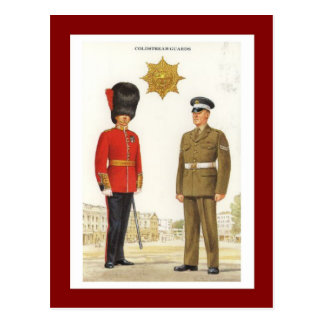 Vintage Military Uniforms, Coldstream Guards Postcard