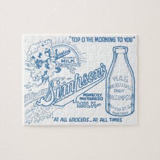 Vintage Milk Advertisement Puzzle