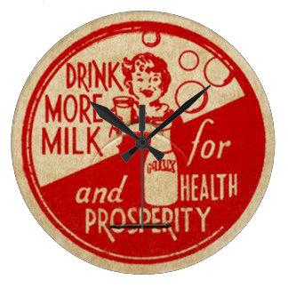 Vintage Milk Bottle Clock