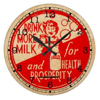 Vintage Milk Label Clock