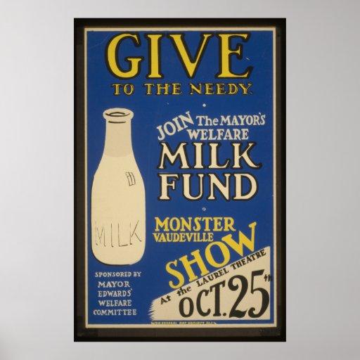 Vintage Milk Poster