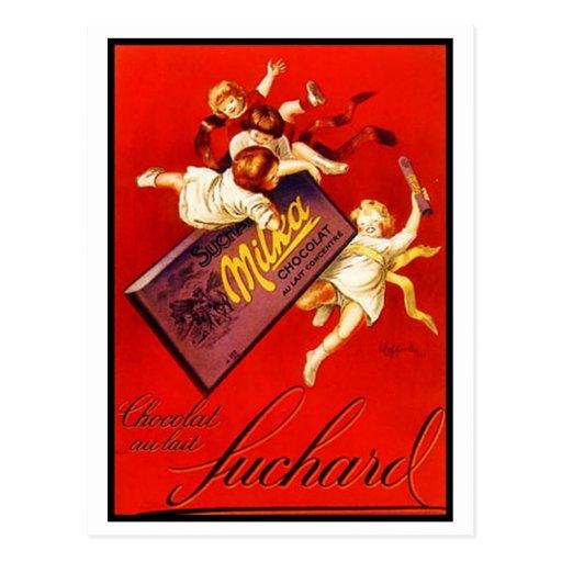 Vintage Milka Chocolate Ad Postcard