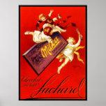 Vintage Milka Chocolate Ad Poster