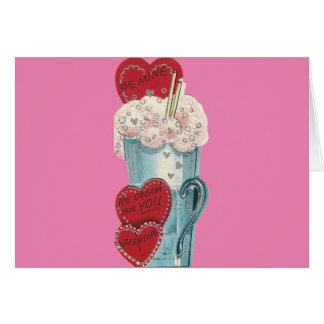 Vintage Milkshake Valentine Card