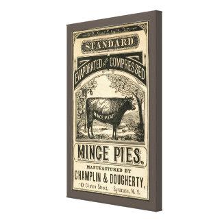 Vintage Minced Pies Ad Canvas Art