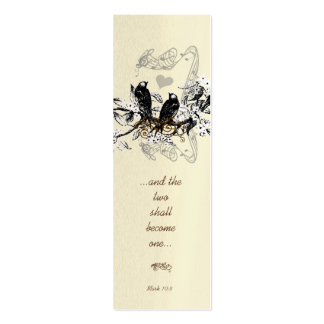Vintage Mini Bookmark or Wedding Tags Business Cards