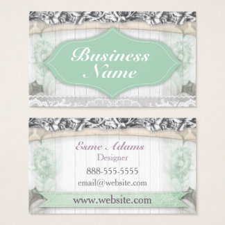 Vintage Mint Wood Business Card