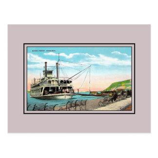 Vintage Mississippi River Front Hannibal MO Postcard