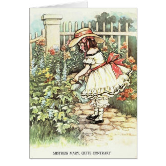 Vintage - Mistress Mary, Quite Contrary, Card