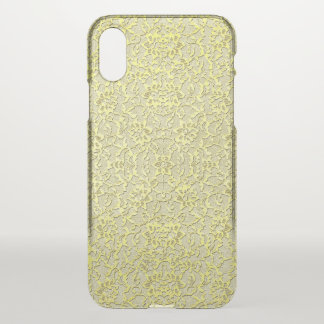 Vintage Modern Glam Style Metallic Gold Lace iPhone X Case