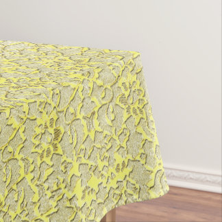 Vintage Modern Glam Style Metallic Gold Lace Tablecloth