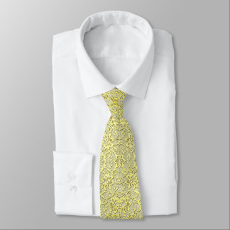 Vintage Modern Glam Style Metallic Gold Lace Tie