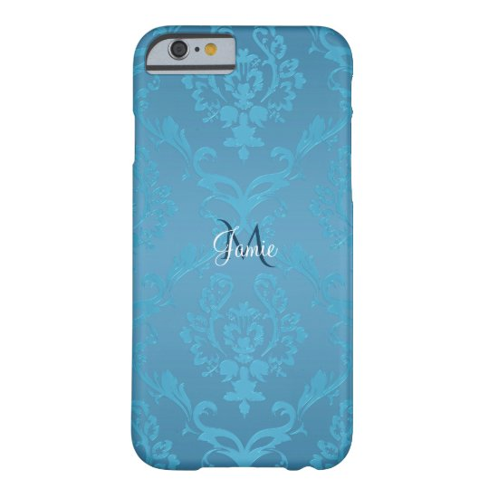 Vintage Modern Glam Turquoise Damask Barely There iPhone 6 Case