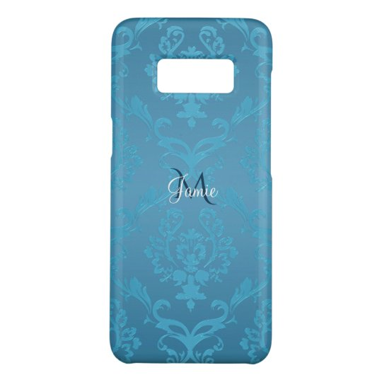 Vintage Modern Glam Turquoise Damask Case-Mate Samsung Galaxy S8 Case