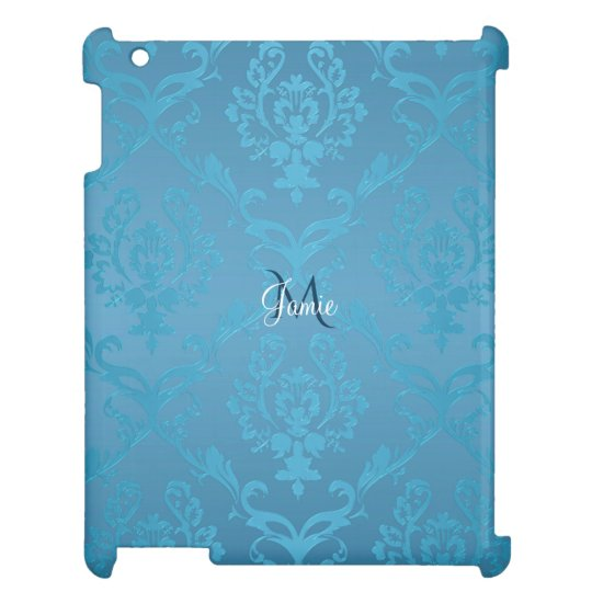 Vintage Modern Glam Turquoise Damask Cover For The iPad
